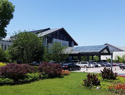 新堰案例-杭州西溪宾馆别墅区弹性拉毛30000平方